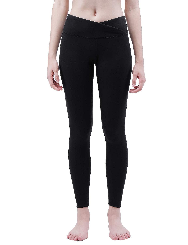 4f8c1c12017f4 Amazon.com: TaiBid Women's Yoga Pants, V Cut High Waist Tummy Control  Workout Running Non See Through Leggings, Size S-XL: Clothing