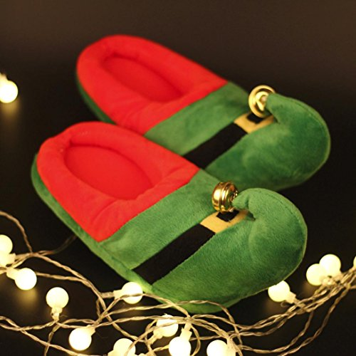Hunpta Unisex Artificial Plush Cotton Home Slippers Winter Warm Indoor Slippers Shoes Green JedhV