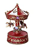 Pacific Giftware Animal Circus Rolling Into Town Vintage Carousel Music Box Collectible 8.5
