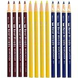 Berol Mirado Peel-Off China Markers, Assorted - Pack of 12