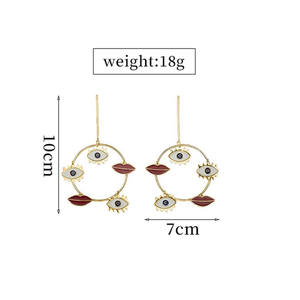 Oucan Bohemia Earrings Girls Hollow Out Earrings Metal Alloy Vintage Geometric Earrings