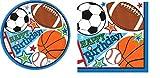 Sports Theme Birthday Party Suppy Classroom Bundle - Soccer Basketball Football Baseball Plates and Napkins (Serves 32)