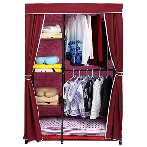 homdox-portable-clothes-closet-wardrobe-storage-organizer-with-non-woven-curtain-black-tube-wine-red