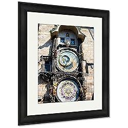 Ashley Framed Prints Prague Astronomical Clock in The Old Town of Prague, Wall Art Home Decoration, Color, 35x30 (Frame Size), Black Frame, AG6570394