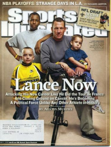 Reggie Bush Draft - Sports Illustrated May 8, 2006 Lance Armstrong Cancer Survivor Cover, NBA Playoffs, NFL Draft - Reggie Bush/New Orleans Saints