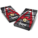 Wild Sports NCAA College Nebraska Cornhuskers 2' x 4' Grey Authentic Cornhole Game Set - Vintage Triangle Design