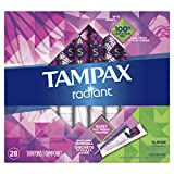 Tampax Radiant Tampons Super Absorbency, 32 Count