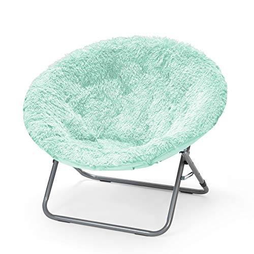 Urban Shop WK657555 Oversized Mongolian Saucer Chair, Mint (Green Chair Saucer)