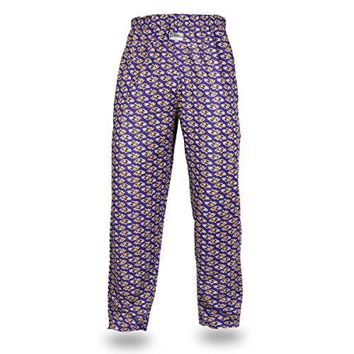 NFL Baltimore Ravens Men's Zubaz Team Logo Print Comfy Jersey Pants, Medium, Purple
