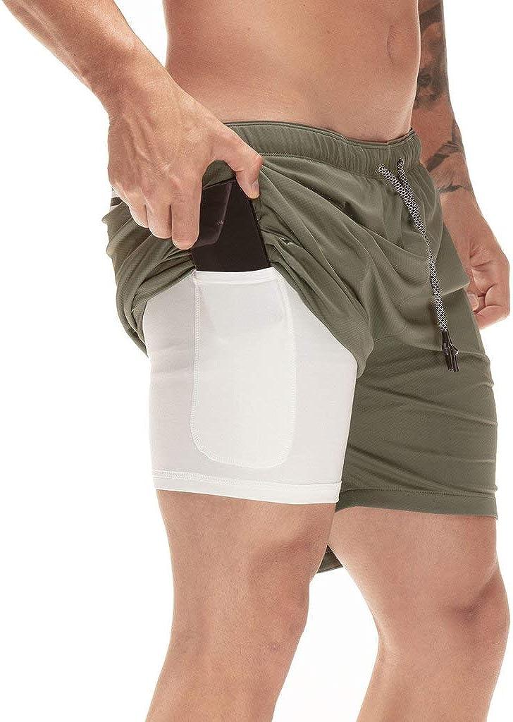 TSLA Active Bike Running Yoga Shorts Side/Hidden Pocket