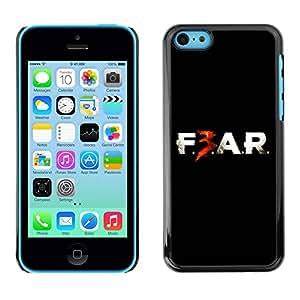 Paccase / SLIM PC / Aliminium Casa Carcasa Funda Case Cover para - F3AR - Apple Iphone 5C