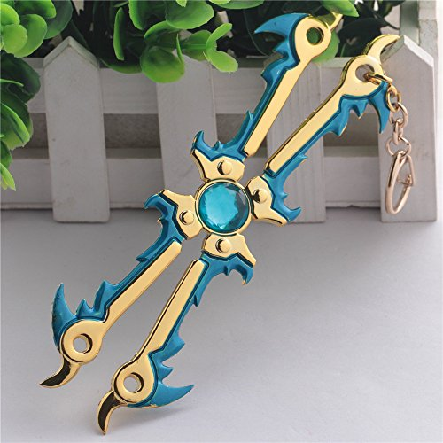 Dailinming accessories Game cosplay Costume toy Blade Willie Eriya Frost Blade Model Decoration Key ring keychain blue YWSS-599