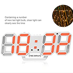 Electronic LED Digital Alarm Clock -Multi-functional Wall Clock With with Countdown Timer Temperature Date