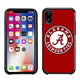 Prime Brands Group Textured Team Color Cell Phone Case for Apple iPhone X - NCAA Licensed University of Alabama Crimson Tide