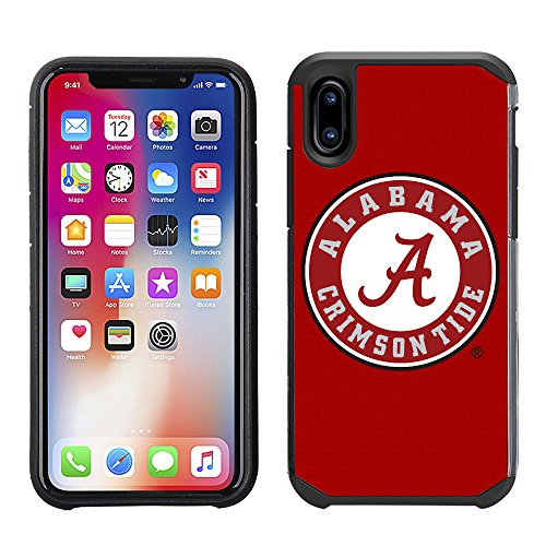 - Prime Brands Group Textured Team Color Cell Phone Case for Apple iPhone X - NCAA Licensed University of Alabama Crimson Tide