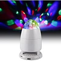 Funkysky Bluetooth Portable Party Speaker With Spinning Multi Colored Disco Beat-Sync Light Show