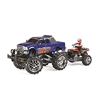 Fast Lane Remote Control 110 Scale Ford F 350 With Atv On Trailer