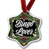 Christmas Ornament Floral Border Bingo Lover - Neonblond