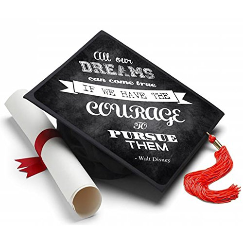 Tassel Toppers Pursue Your Dreams Graduation Cap Decorated Grad Caps - Decorating Kits -