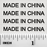 10,000+ Made in China Stickers White Rectangle Kiss Cut Self Adhesive Labels by IntelGifts. Show Country of Origin on China Imported Products