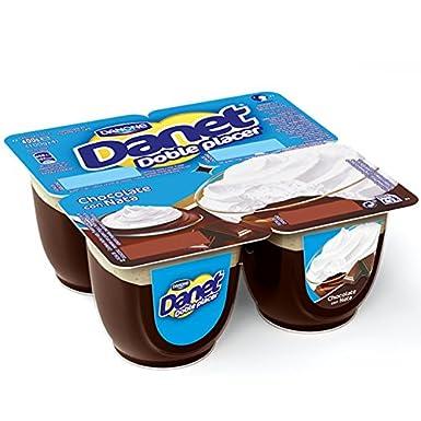 Danone Danet - Doble Placer: Chocolate con Nata, Pack 4 x 100 g: Amazon.es: Alimentación y bebidas