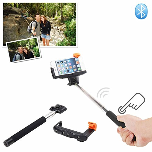 MDN® Press&Shoot 2-In-1 Self-portrait Monopod Extendable Selfie Stick with built-in Bluetooth Remote Shutter With...
