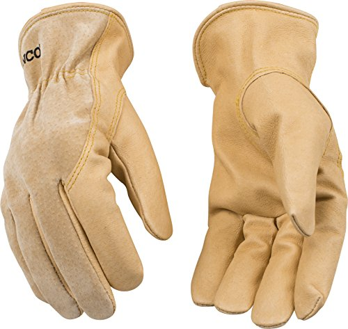 (Kinco 94WA Unlined Grain Pigskin Leather Drivers Glove, Work, Large, Golden (Pack of 6 Pairs))