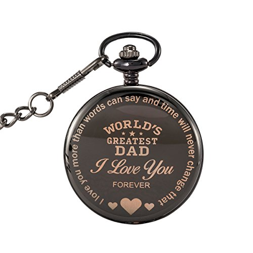 SwitchMe Pocket Watch Father's Day Gift Christmas Birthday Gift for Dad