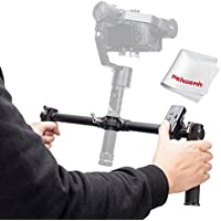 Zhiyun Dual Handheld Grip with Wireless Thumb Controller for Zhiyun Crane V2 Zhiyun Crane M 3 Axis Handheld Gimbal Stabilizer - With PERGEAR Cleaning Kit