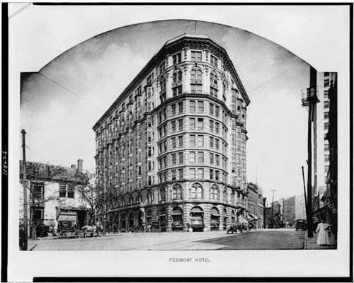 Photo: Piedmont Hotel,buildings,exterior,streets,dwellings,Atlanta,Georgia,GA,1908