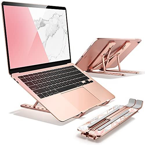 Soporte para Laptop y Tablet ajustable de auminio rose gold