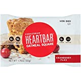 Heartbar Oatmeal Square, Cranberry Flax, 1.76 Ounce (Pack of 12)