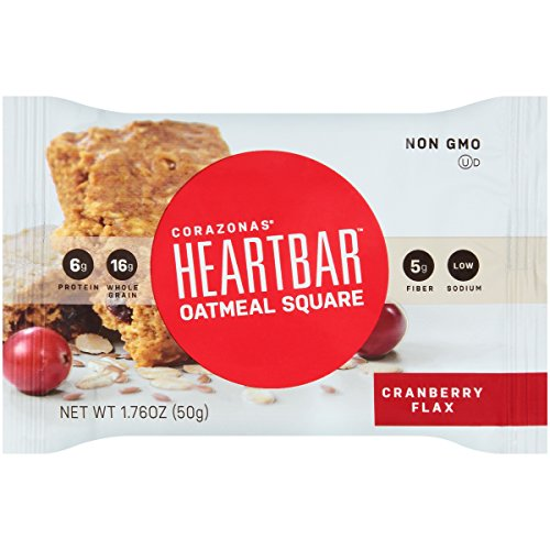 - Heartbar Oatmeal Square, Cranberry Flax, 1.76 Ounce, 12 Count