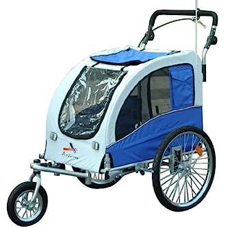 Aosom Elite II Large Pet Dog Bike Bicycle Trailer Stroller Jogger w/ Suspension