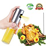 FIDGETERRELAX Olive Oil Sprayer, Oil Mister for Cooking, Salad, BBQ, Frying, Baking with Free Tube Brush, 3.42-Ounce Food-Grade Glass