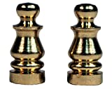 Creative Hobbies ELY505 Solid Brass Finial for Lamp Shades, 1 Inch Tall -Pack of 2