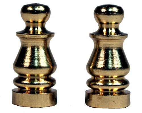 Creative Hobbies ELY505 Solid Brass Finial for Lamp Shades, 1 Inch Tall -Pack of 2 (Tie Dye Lamp Shade)