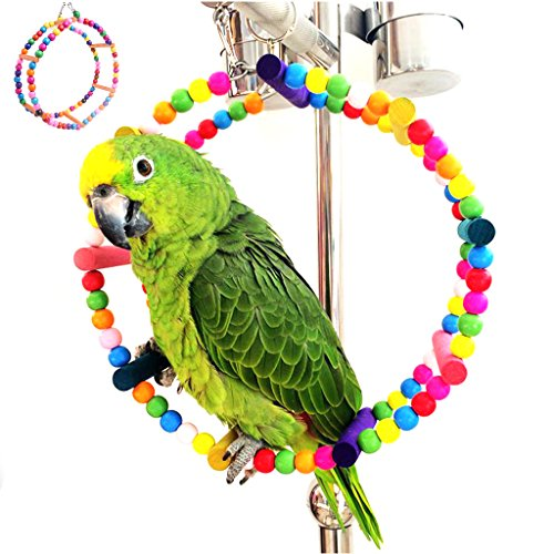 Price comparison product image NNDA CO Colorful Pet Bird Parrot Cockatiel Hamster Swing Cage Hanging Ladder Chew Toys, 1Pc