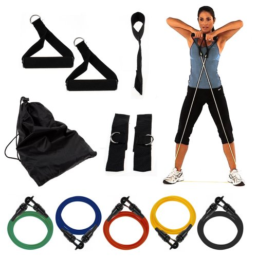 Wacces® 11pcs. Resistance Bands Extreme Excersise Fitness Workout by Wacces