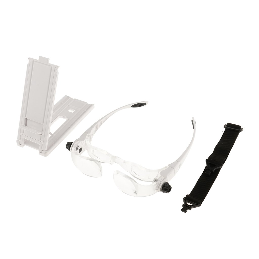 MagiDeal 1 Paar Lupenbrille H/ände Frei Kopfband Lupen Stirnband Brille Lupen Handy TV Fernseher Lupe