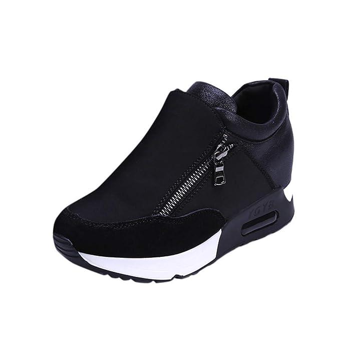JiaMeng Zapatillas Deportivas de Moda para Correr, Senderismo, Zapatos de Plataforma con Fondo Grueso Zapatos Deporte para Correr Trail Fitness Sneakers ...