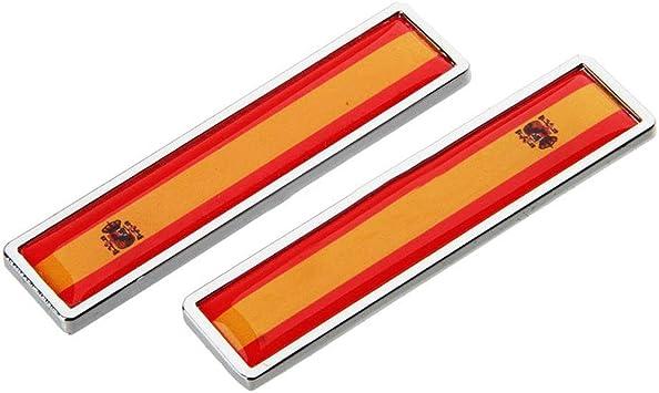1 Par España Bandera Etiqueta Engomada del Coche de Metal ...
