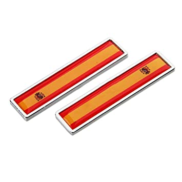 1 Par España Bandera Etiqueta Engomada del Coche de Metal Decorar Etiqueta Emblema de la Insignia para BMW Opel Lada Hyundai Renault Toyota Honda: ...