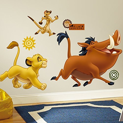 RoomMates The Lion King Peel and Stick Giant Wall Decals]()