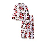 Disney Minnie Mouse Button Front Little Girls Pajama Set , Toddler Sizes 2T-4T