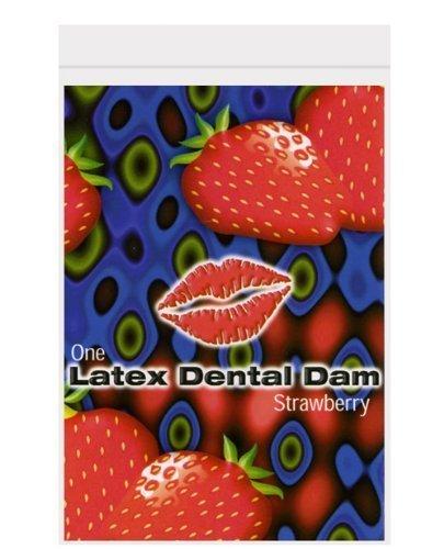 DENTAL DAM STRAWBERRY FLAVOR TRUST DAM 12 PACK by - Dam Dental Flavors Latex