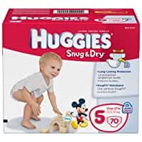 Huggies Snug & Dry Diapers, Size 5, 70 Count