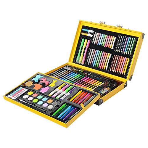 KIDDYCOLOR Deluxe Art Set for Kids 159 Piece with DIY Suitcase,Colored pencils Crayons,Painting by KIDDYCOLOR