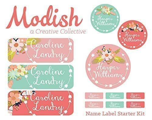School Kids Name Tag Labels 48ct  Dishwasher Safe Airplane Name Labels Day Care Labels