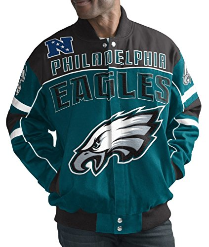 Sports Philadelphia Eagles Men's Blitz Premium Cotton Twill Jacket